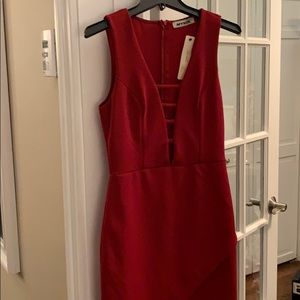 Mystic bobbles and lace red dress